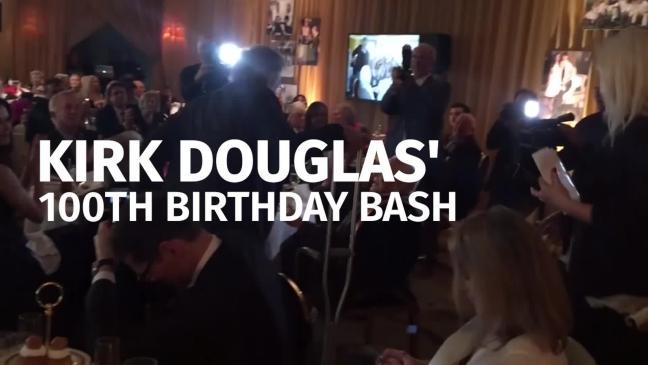 Kirk Douglas celebrates his 100th birthday with an ...