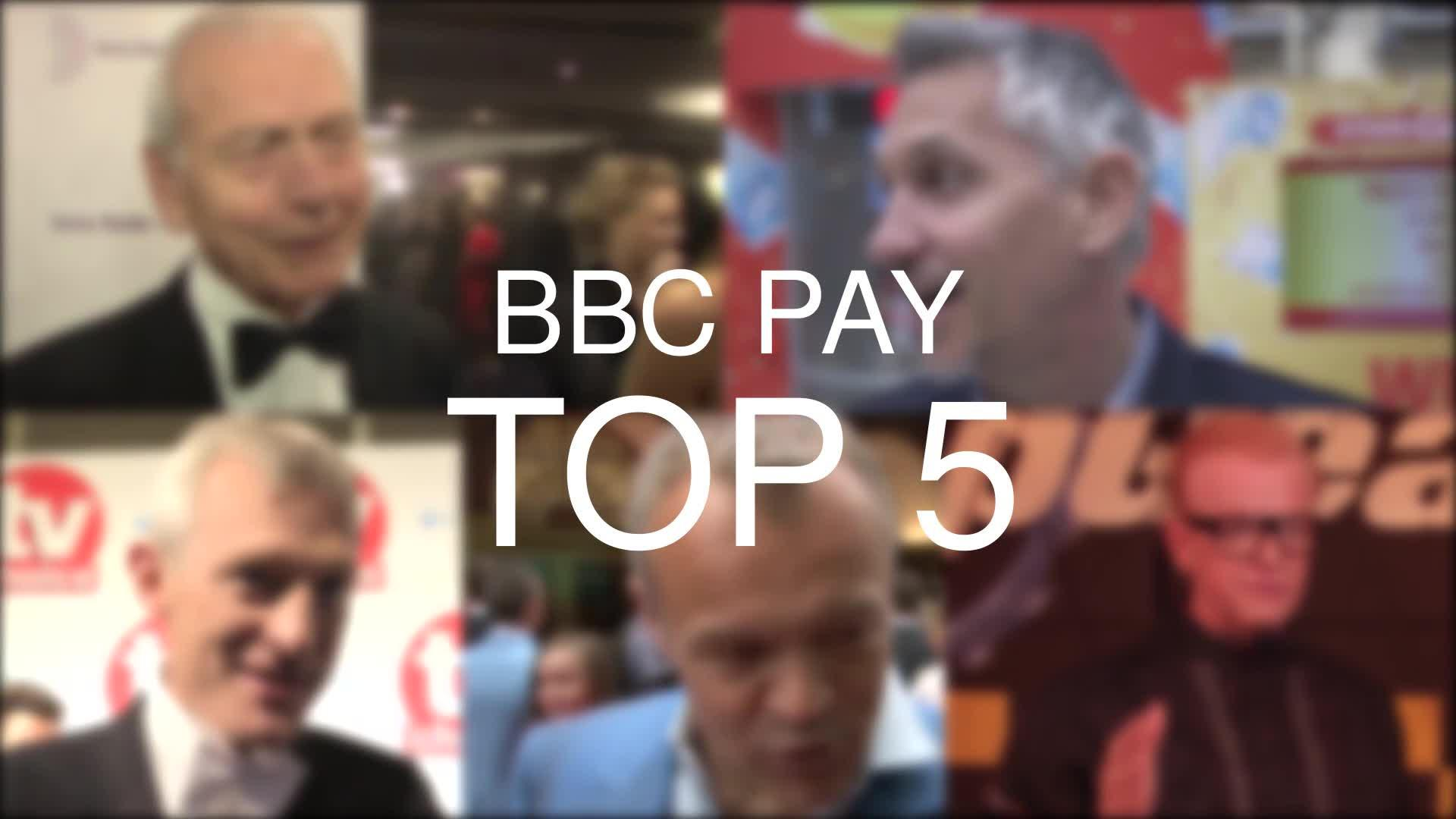 Chris Evans's BBC pay packet dwarfs top-earning female