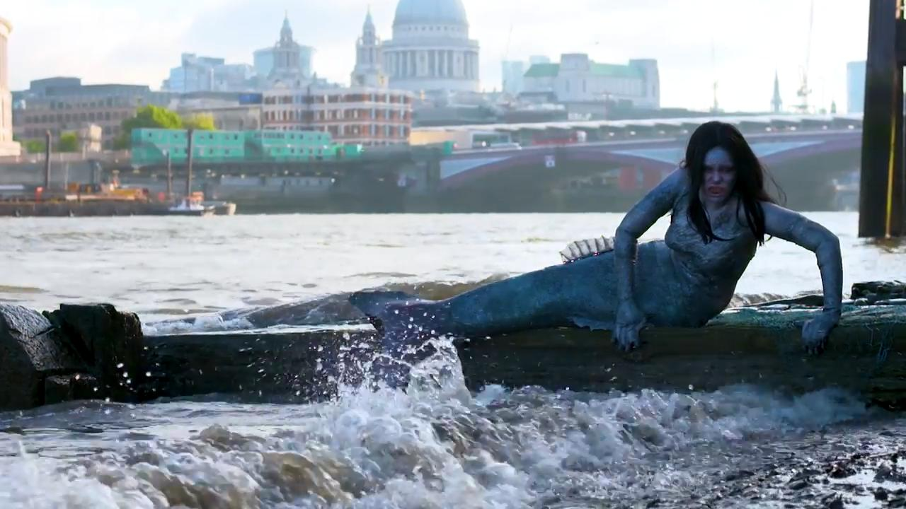 'Mermaid' spotted on Thames ahead of Siren premiere on Syfy