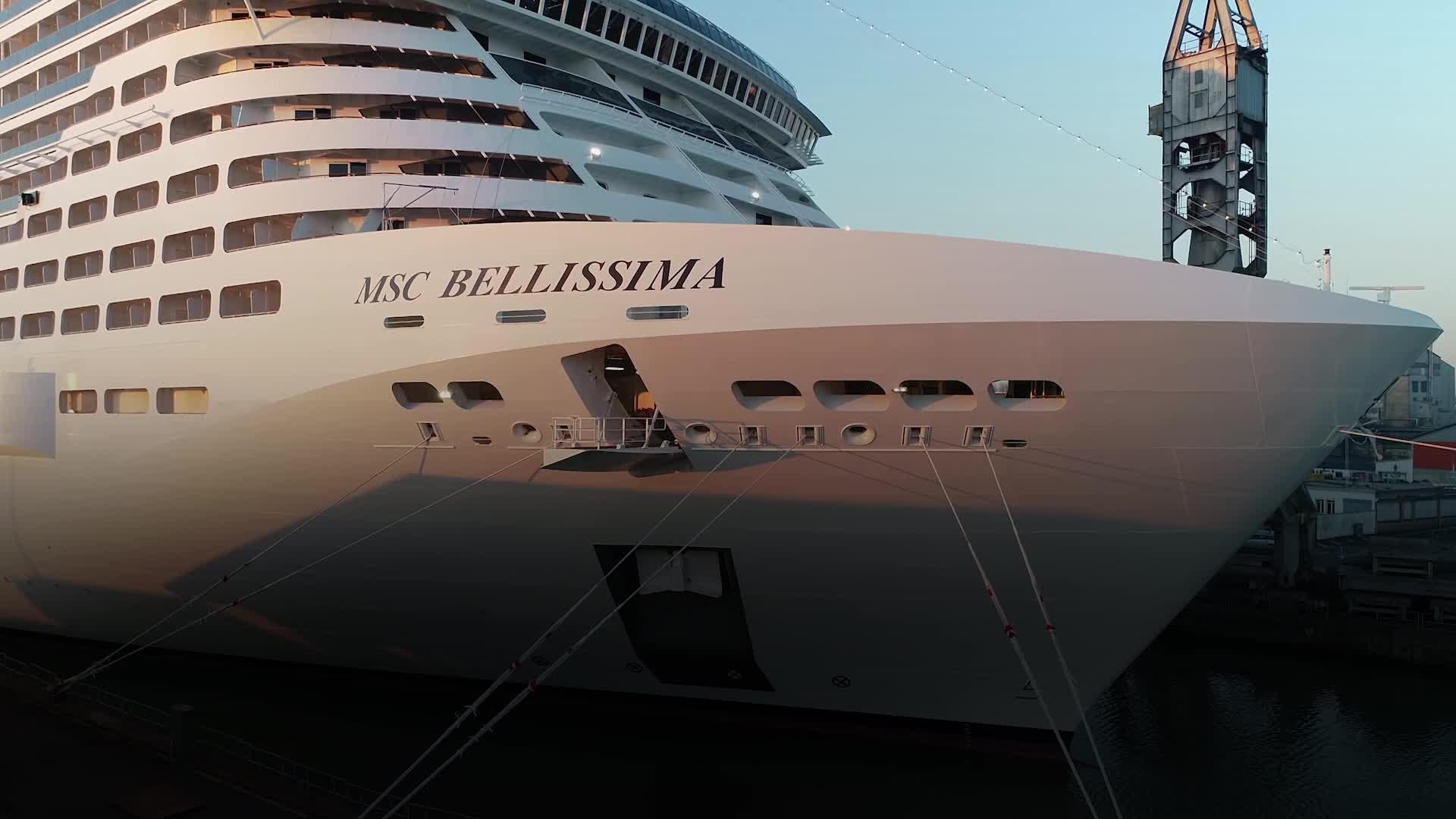 On-board the MSC Bellissima
